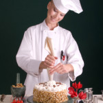 Chef Piping Cake Star